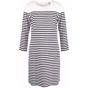 Marc Cain Addition Blue White Striped A Line Dress